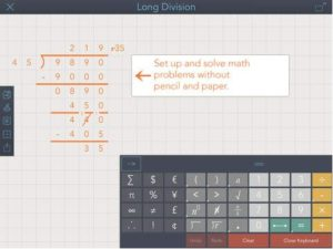 The ModMath app enables children to easily do math problems on the iPad.