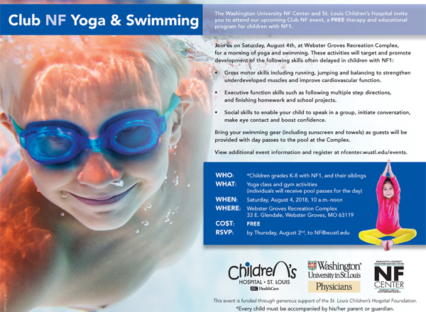 YOU'RE INVITED: Club NF Yoga & Swimming!