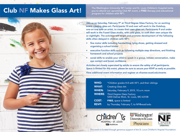 YOU'RE INVITED: Club NF Makes Glass Art!