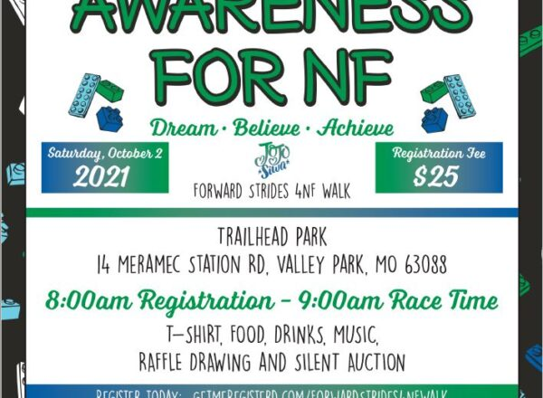 Join us at the Forward Strides 4 NF Family Walk on Oct. 2nd!